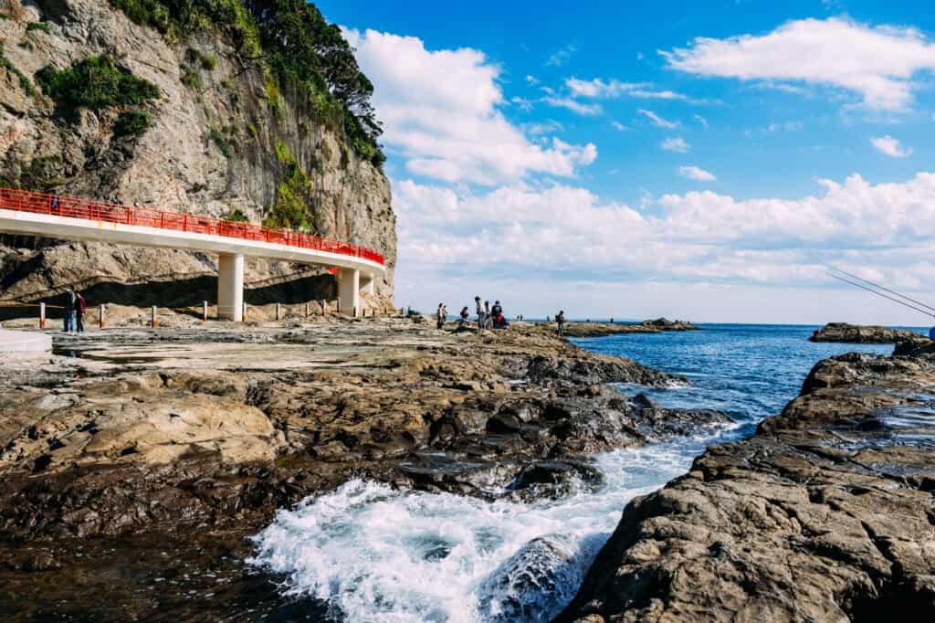 paysage cotier d'Enoshima à chigogafuchi