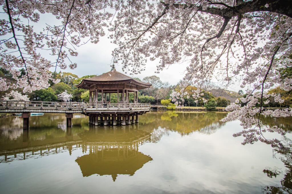 Le Pavillon Ukimido à Nara