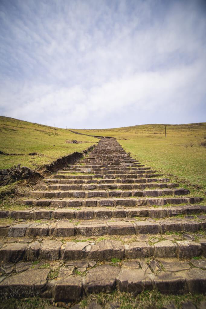 Montée vers le Mont Wakakusa