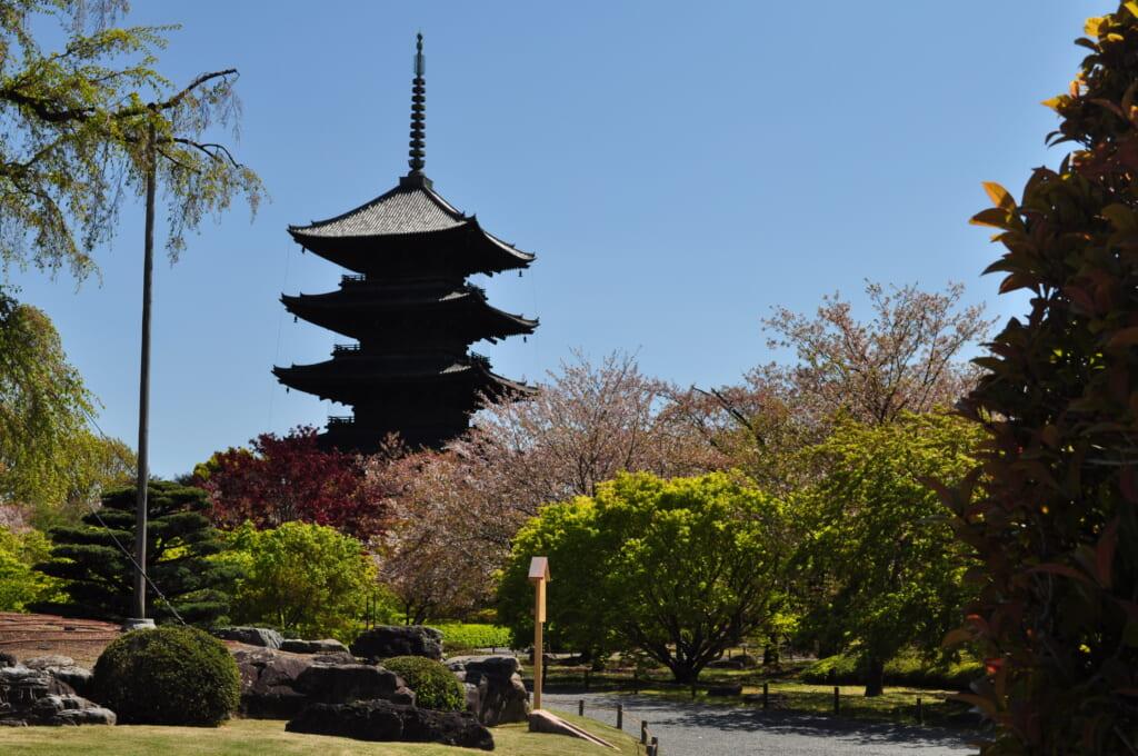 Le temple Toji et sa pagode à 5 étages