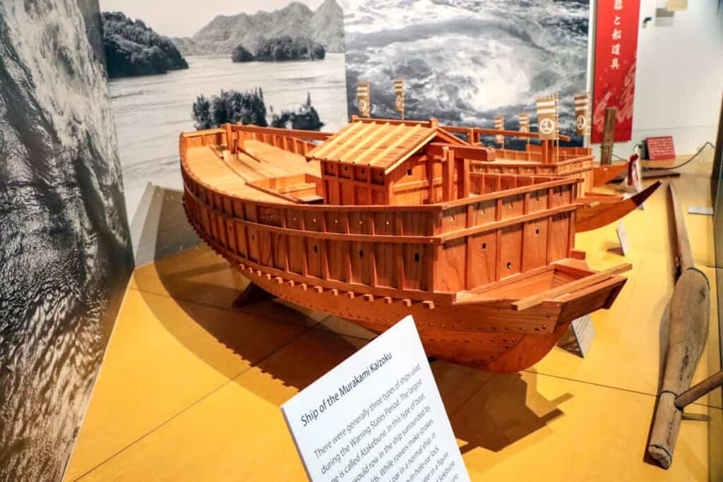 maquette d'un bateau des pirates japonais dans le murakami suigun museum