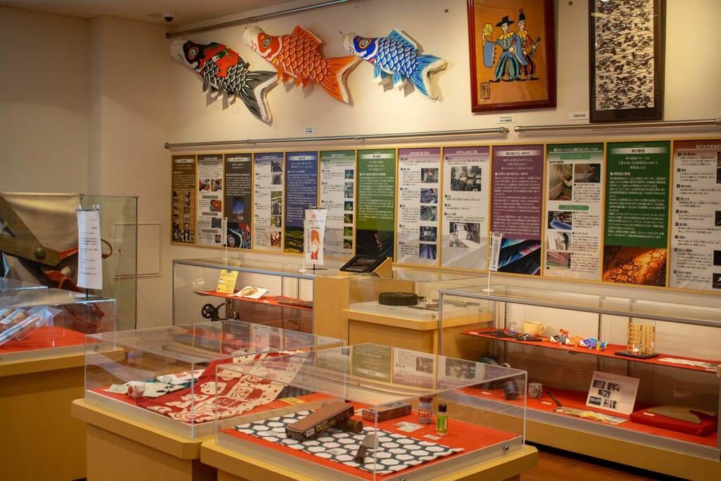 Photo intérieure du musée du couteau à Sakai