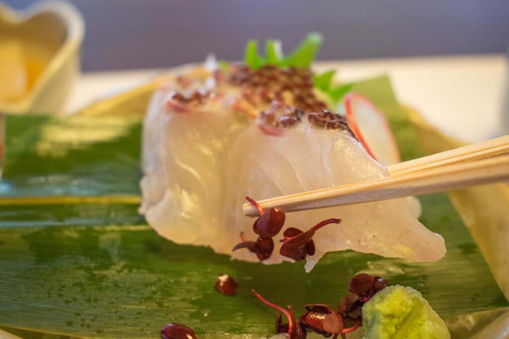Sashimi dans un restaurant japonais