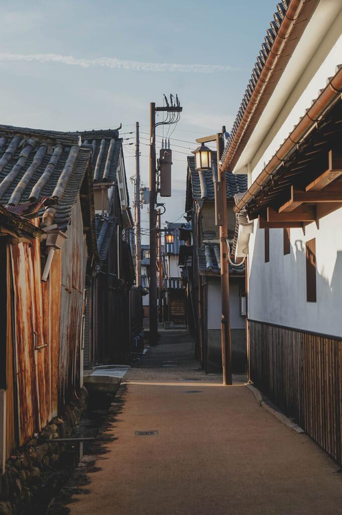 Maisons traditionnelles japonaises dans le quartier d'Imaicho à Nara