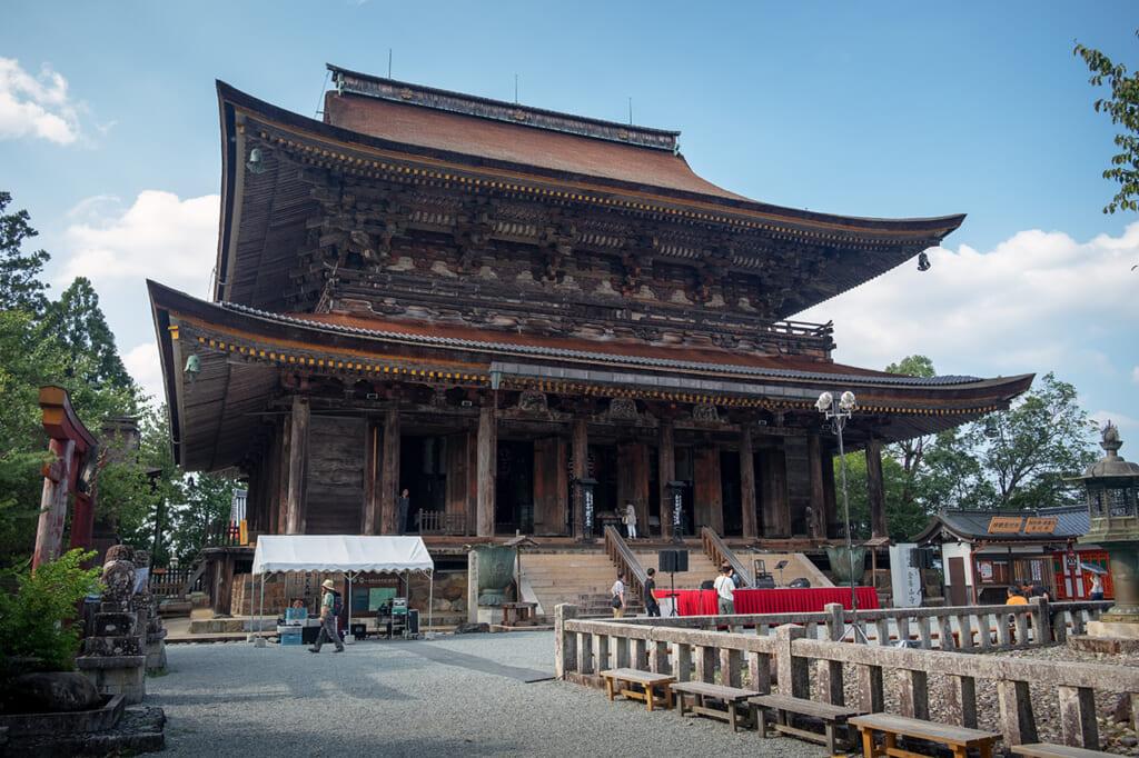 Le temple Kinpusen-ji sur le mont Yoshino, à Nara