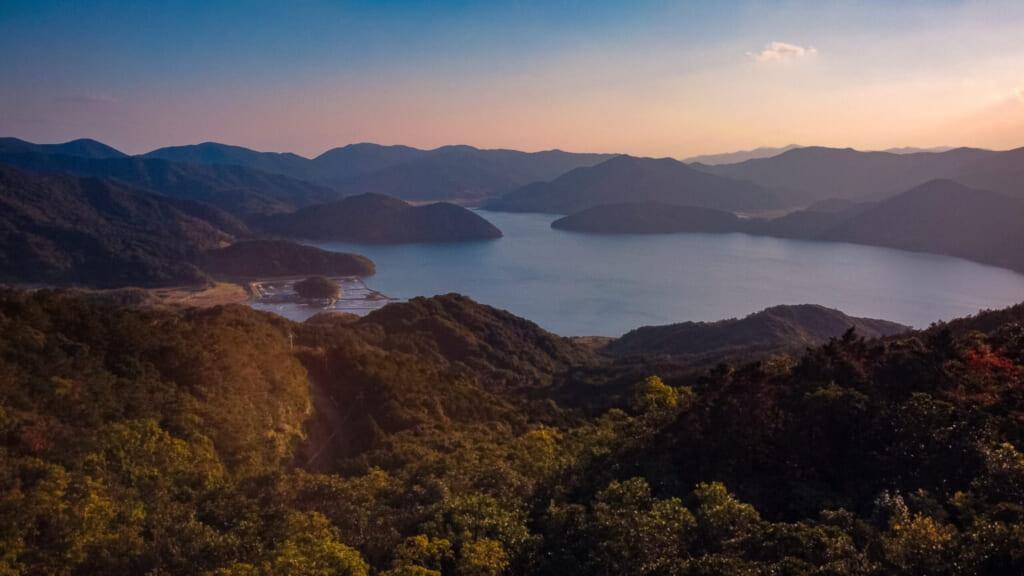 Vue de l'île de Hisaka depuis l'observatoire Origami