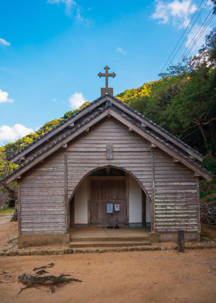 Extérieur de l'église de Gorin dans les îles Goto