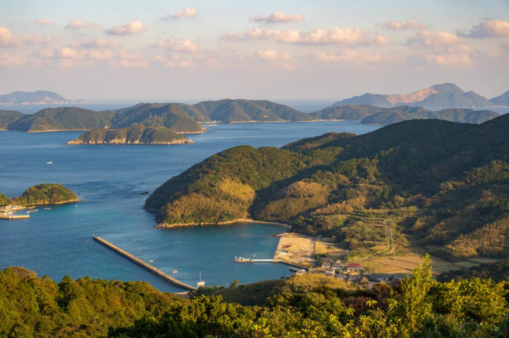 Vue des îles de Goto depuis l'observatoire Origami