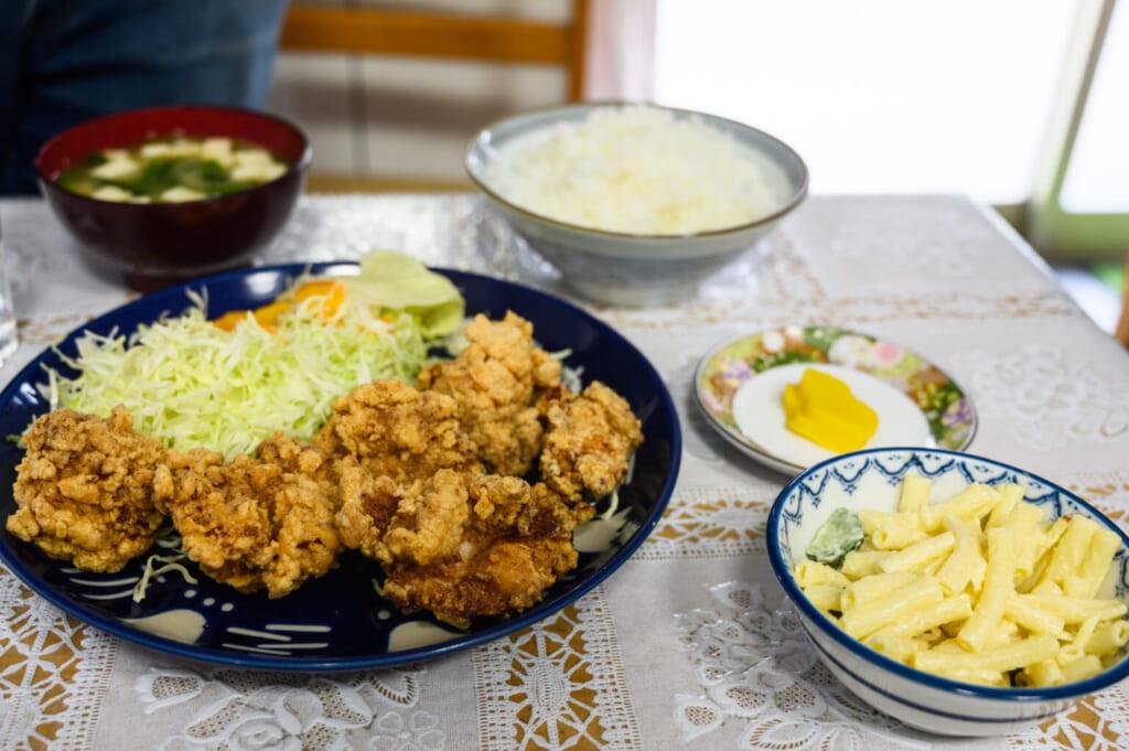 Champon et poulet frit karaage