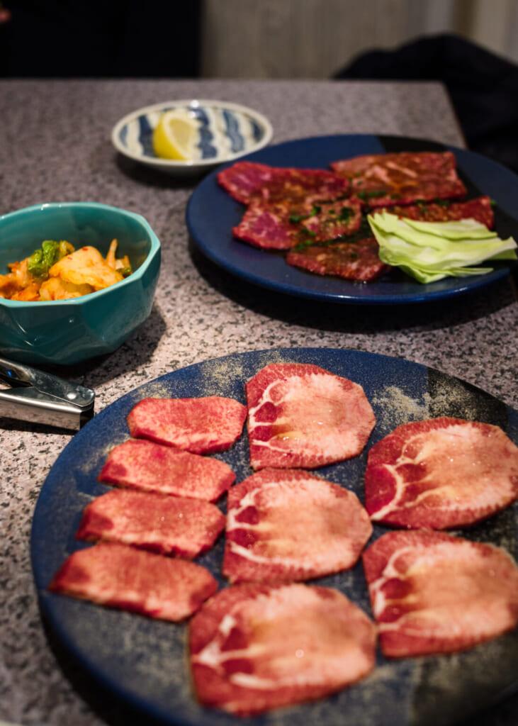 viande avant la cuisson du yakiniku