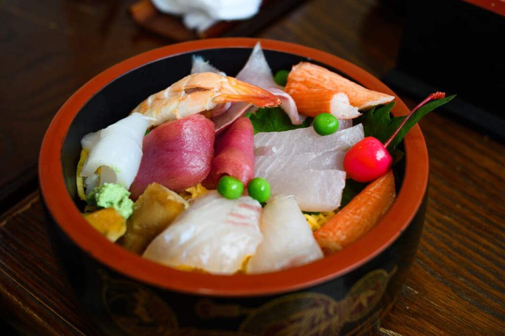 assortiment de poisson frais en provenance de Goto