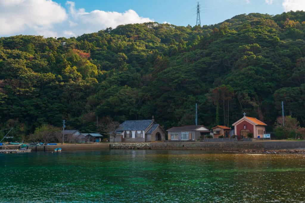 L'église de Gorin sur l'île de Hisaka à Goto