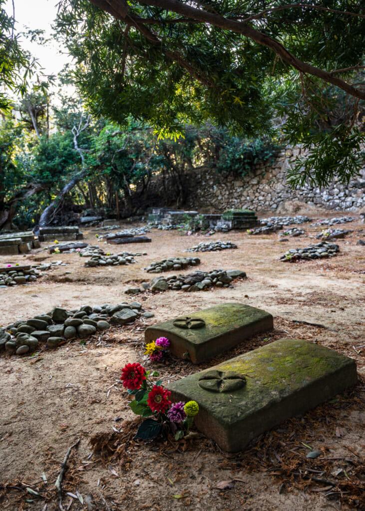 Tombes des chrétiens cachés du Japon sur l'île de Hisaka