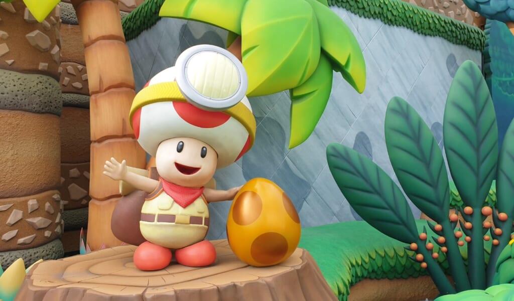 Partez en exploration avec Toad à la recherche de l'œuf d'or