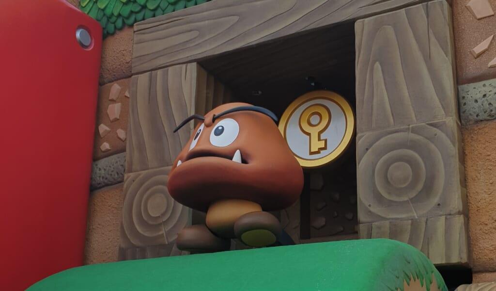 Champignon gumba au Super Nintendo World