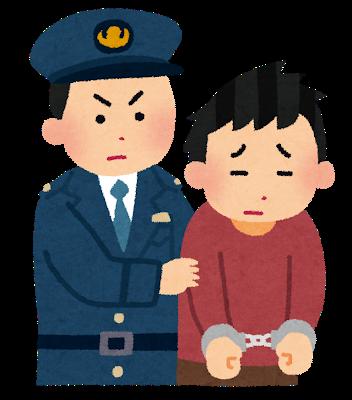 jeune japonais arrêté par la police