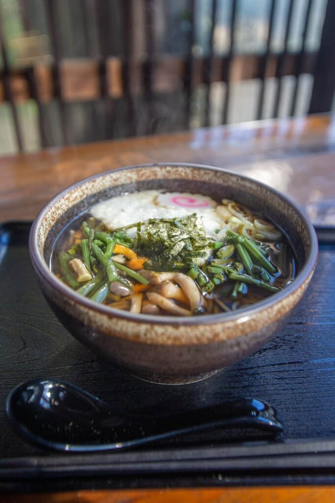 Tororo soba, spécialité de Takao