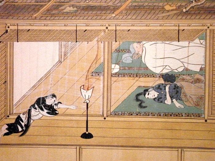 Durant l'époque Heian, seule la noblesse avait accès aux lits sur tatami