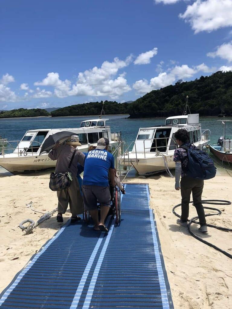 croisière en bateau au Japon adapté aux fauteils roulants