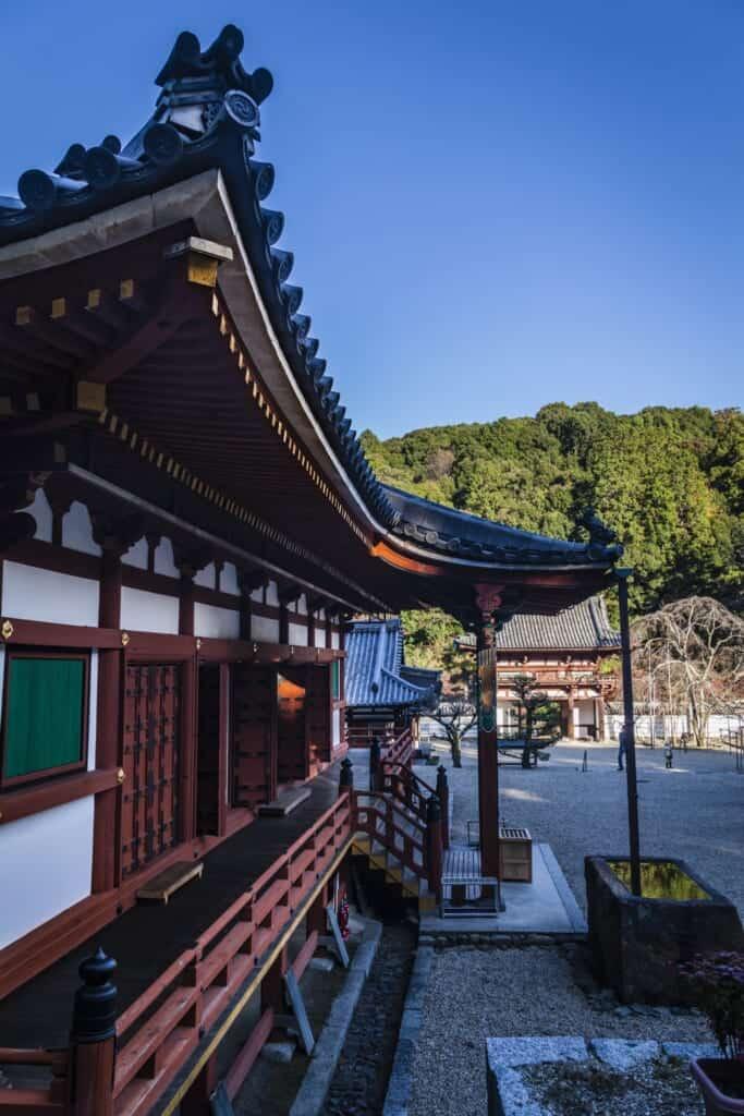 Le temple de Kongoji dans la préfecture d'Osaka