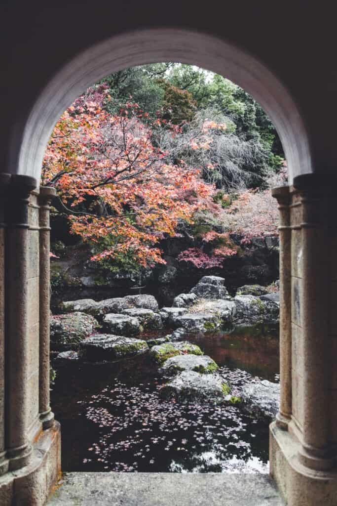 jardin japonais depuis le musée d'Omayazaki