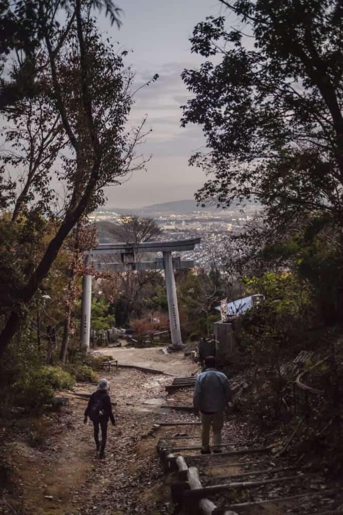Vue panoramique depuis le sommet du mont Tennozan
