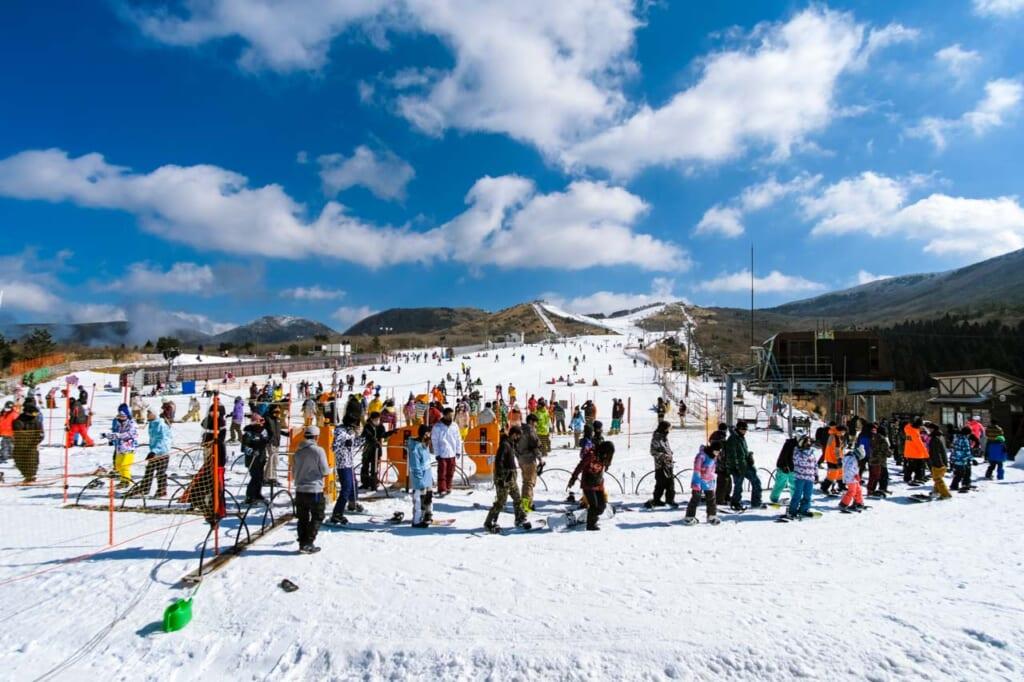 Station de ski sur l'île de Kyushu au Japon