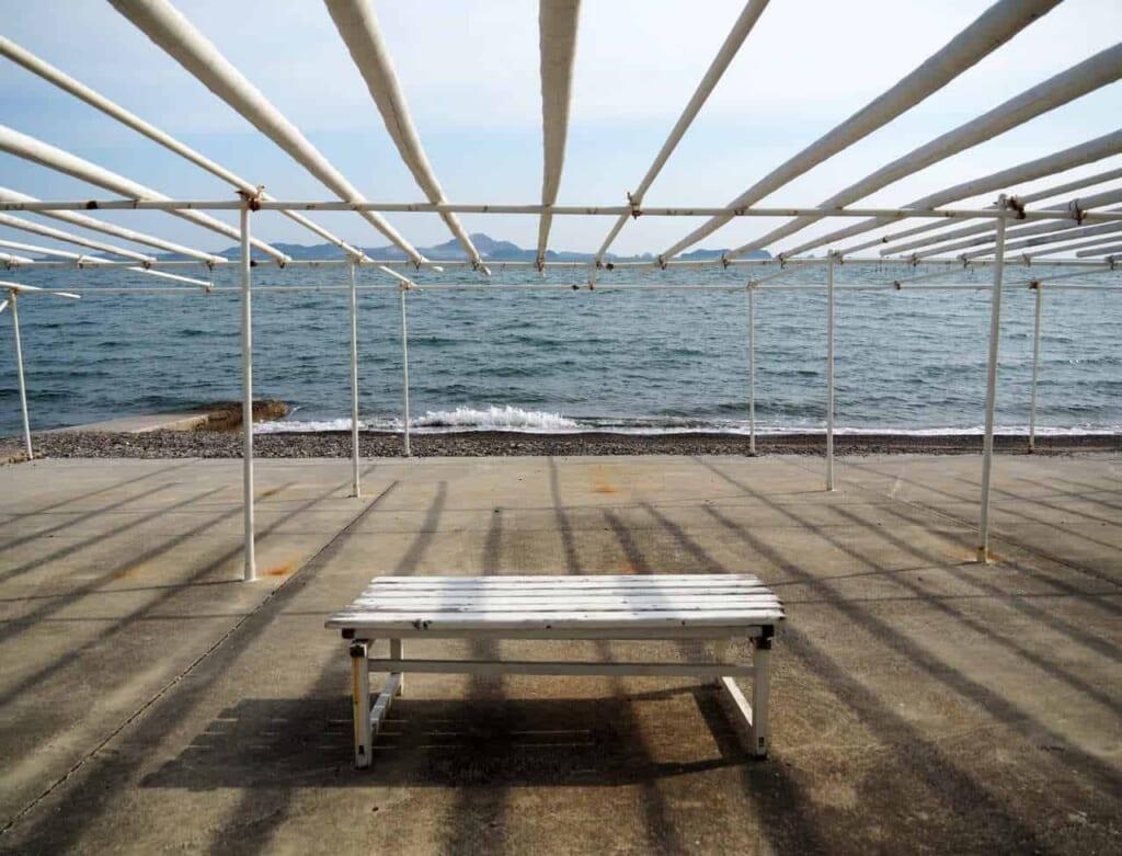 vue de la mer en face d'Imaiso