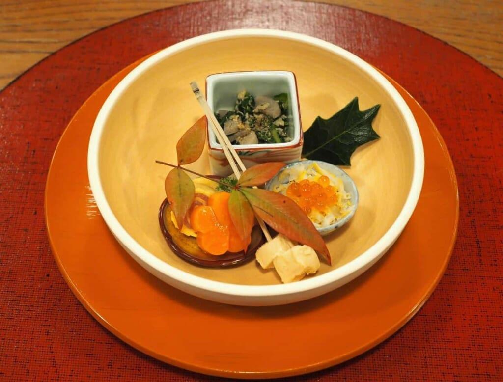 délice Kaiseki au restaurant Kuishinbo à Ako