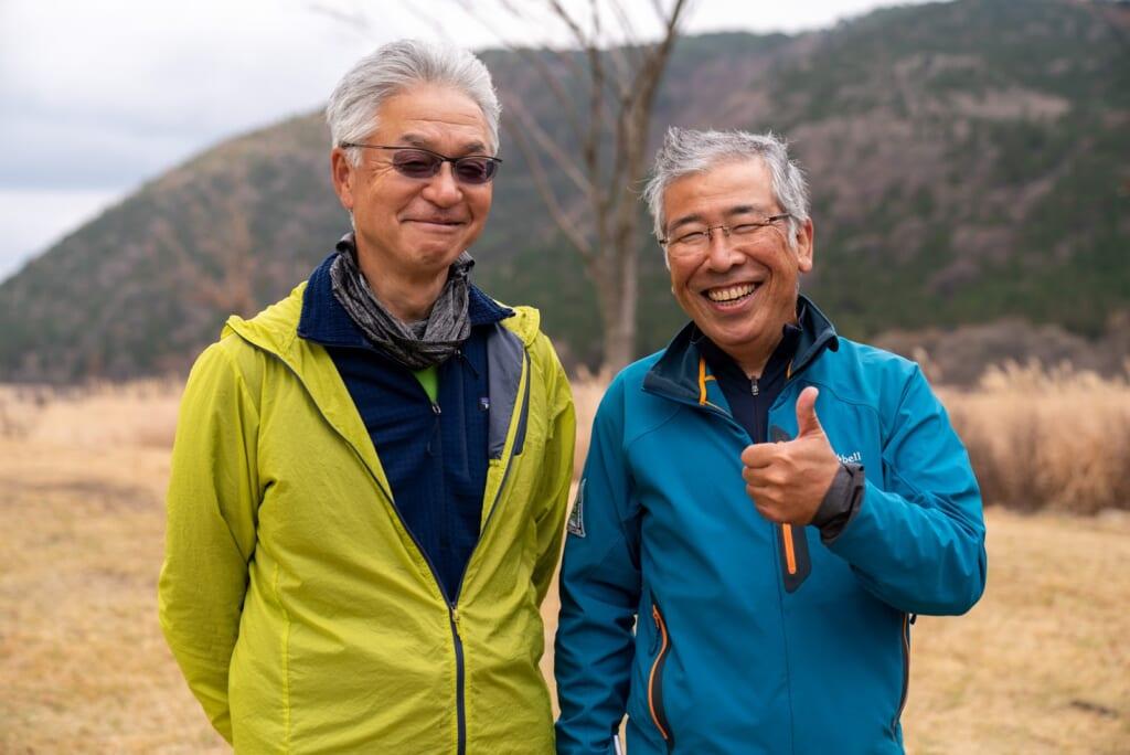 Guides faisant visiter les marais de Tadewara dans la préfecture d'Oita