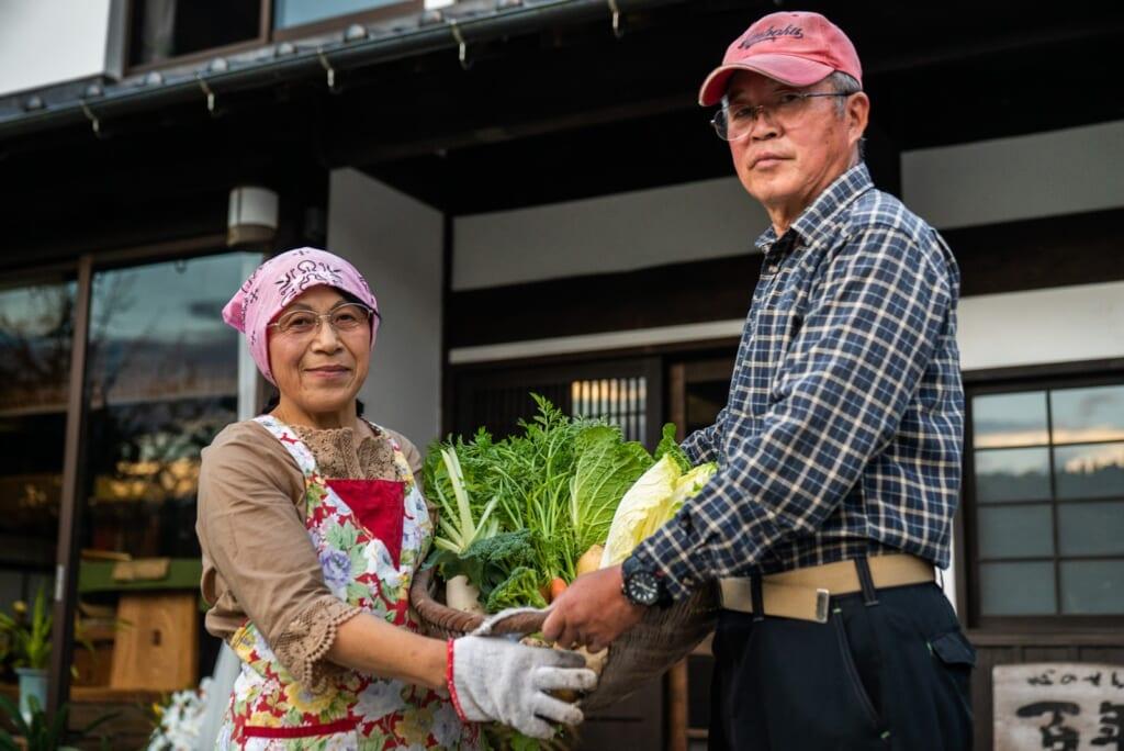 panier de légumes ramassés pour le dîner