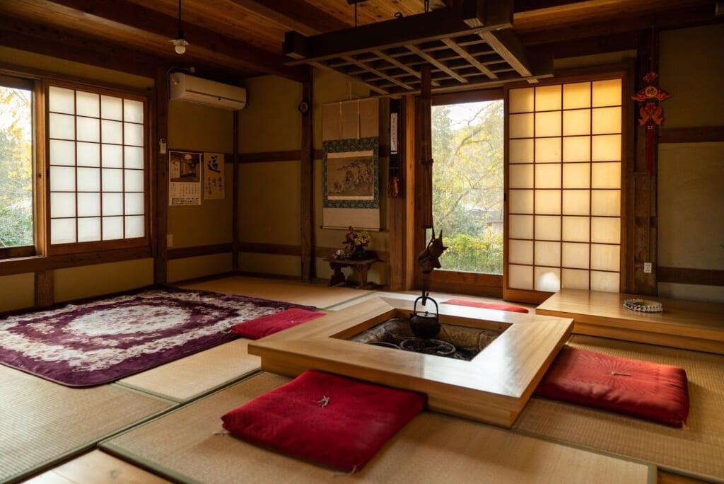 agréable salon japonais dans une ferme d'Oita