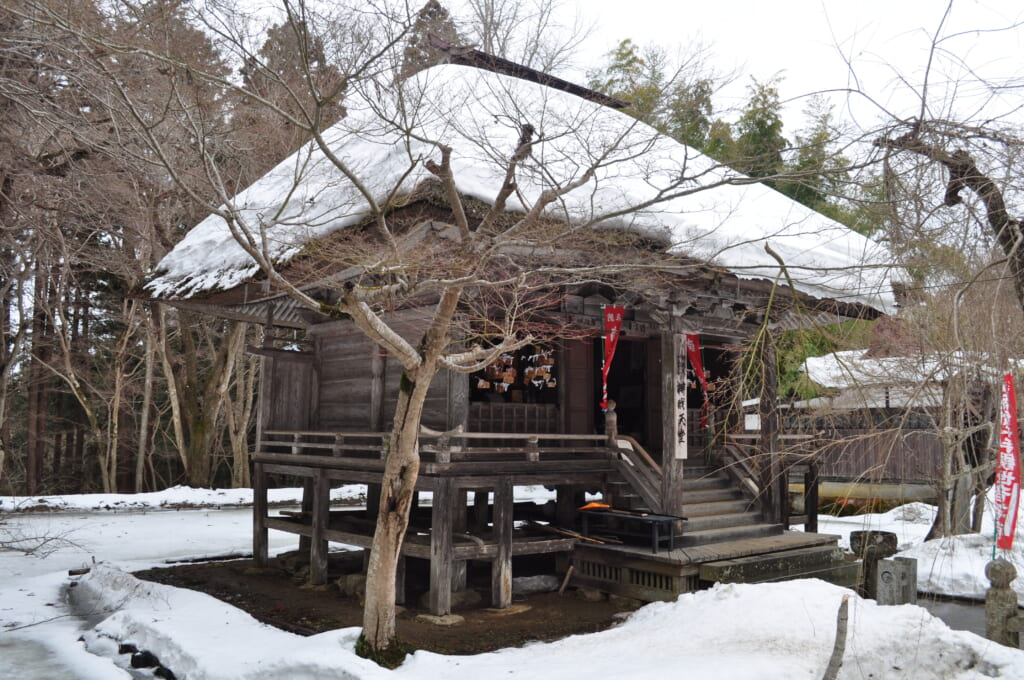 Le Chûson-ji sous la neige