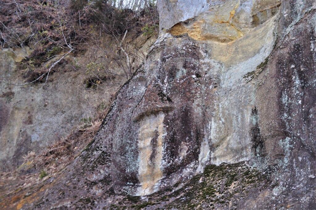 Visage du Bouddha au Takkoku no Iwaya