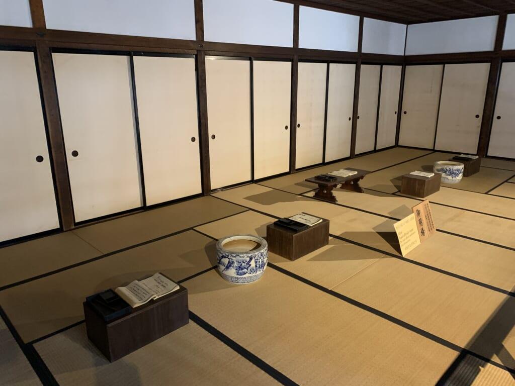 une des pièces du bâtiment administratif de l'époque edo de takayama jinya