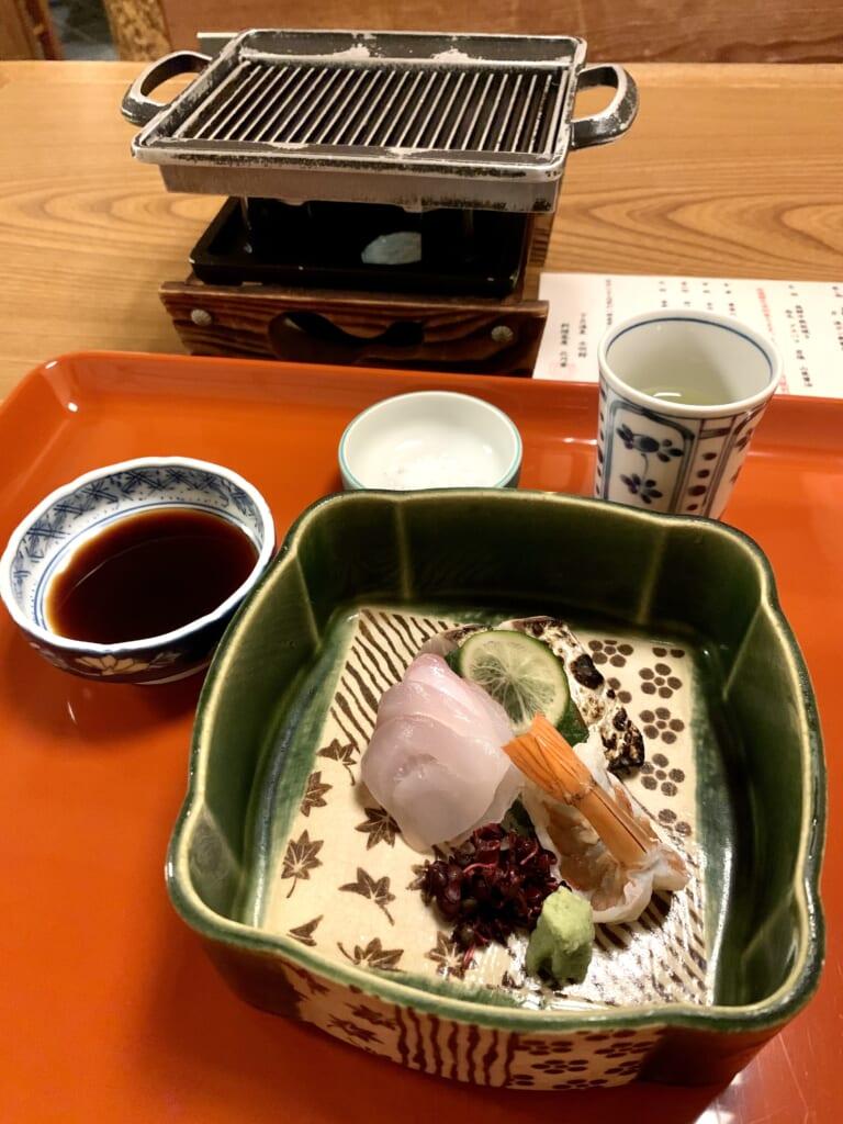 sashimis de poisson dans un ryokan à Gero Onsen