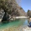 Pêche à la truite dans la rivière Obora, Osakana River Base à Gero