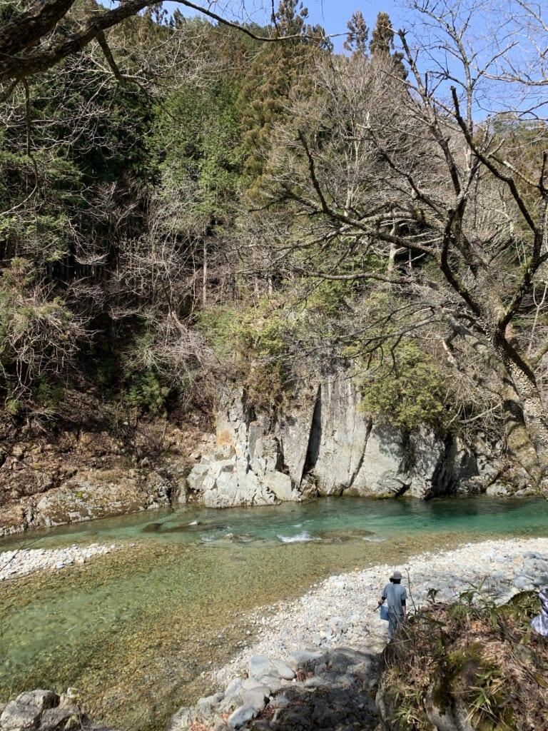la rivière Obora, près de Gero Onsen