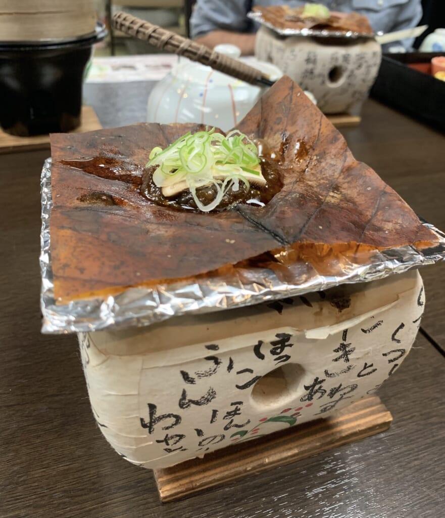 hoba miso, une spécialité culinaire de la satoyama de Gifu