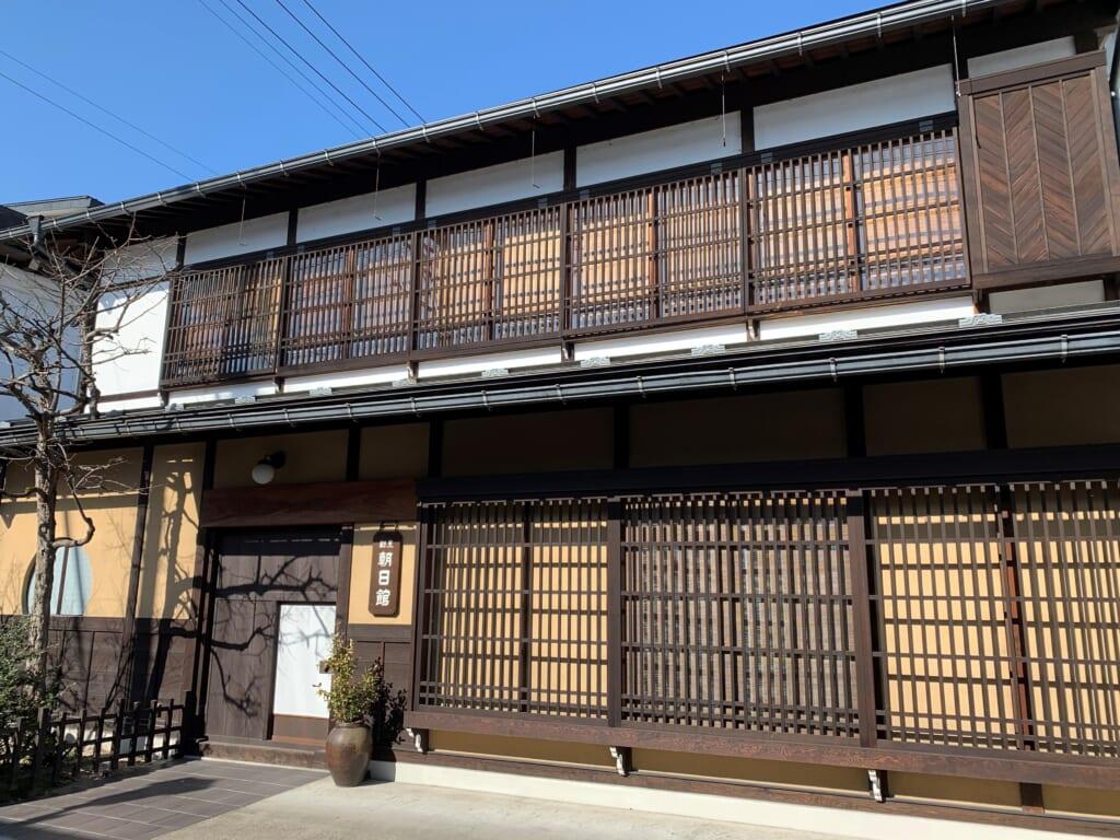architecture traditionnelle japonaise à Hida dans la préfecture de Gifu