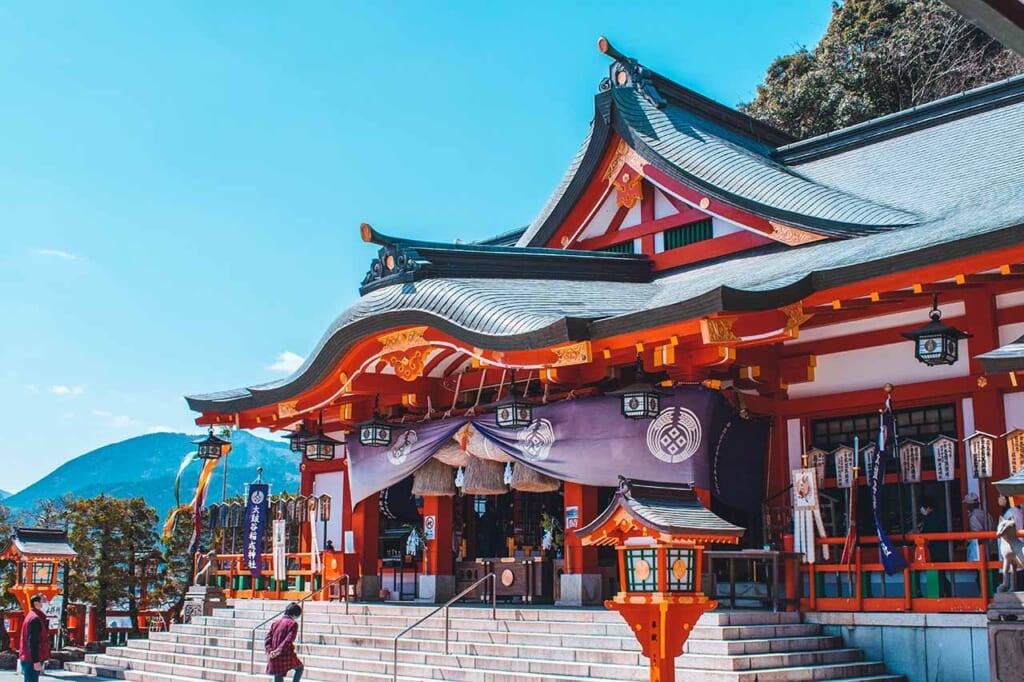 Bâtiment principal du sanctuaire Taikodani Inari de Tsuwano