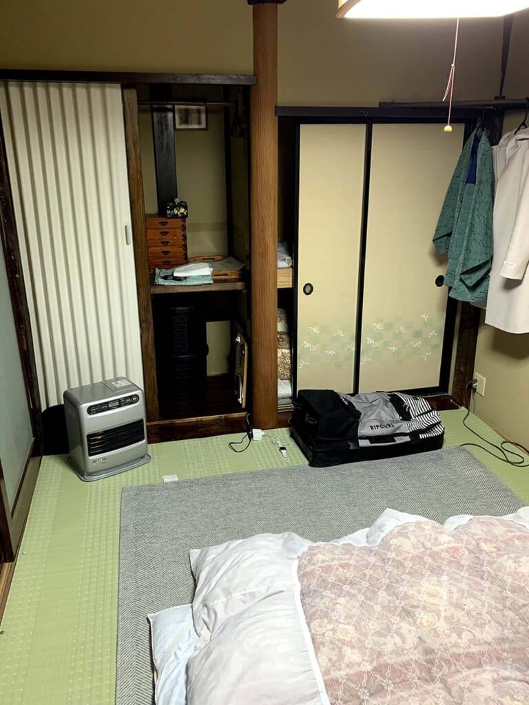 chambre d'hôte dans une maison traditionnelle au Japon