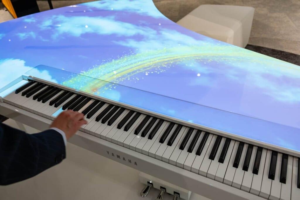 A la Yamaha Innovation Road, vous pouvez essayer librement les instruments mis à disposition