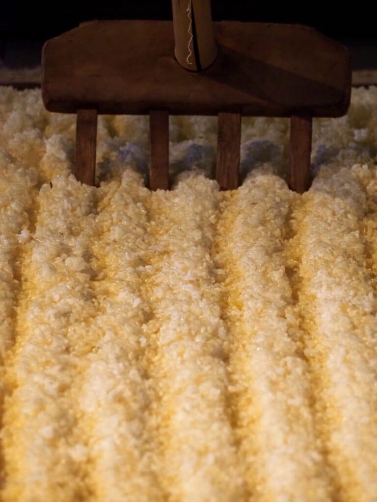 fermentation du riz lors de la production du saké