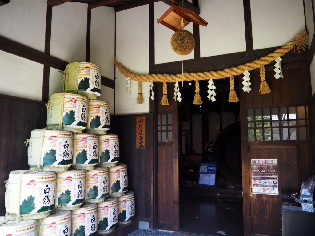 hall d'entrée d'une brasserie de saké au Japon