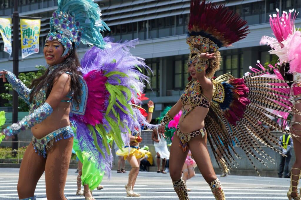 Kobe Samba Festival - danseuses de samba