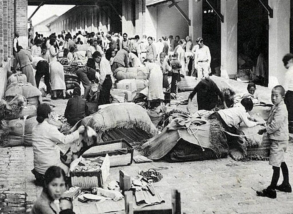 Arrivée des immigrants japonais à São Paulo vers 1935