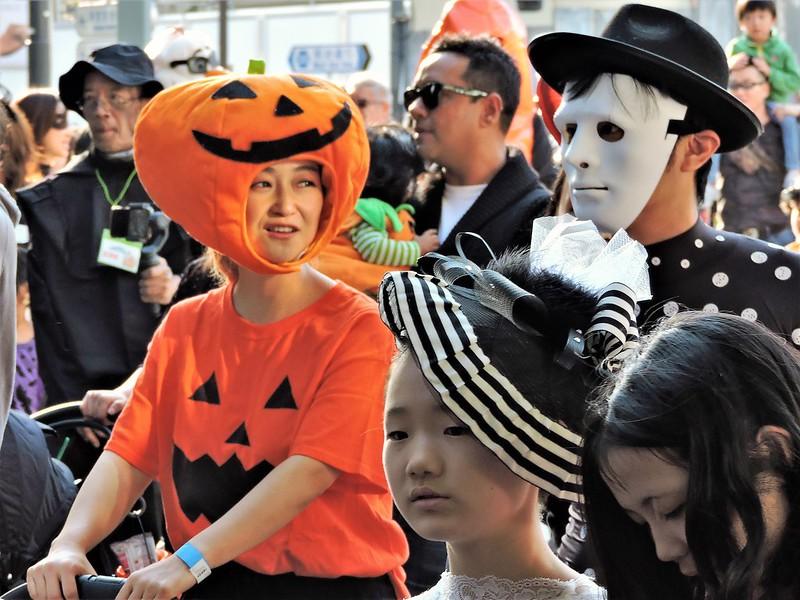 parade d'halloween à harajuku, dans la capitale du Japon