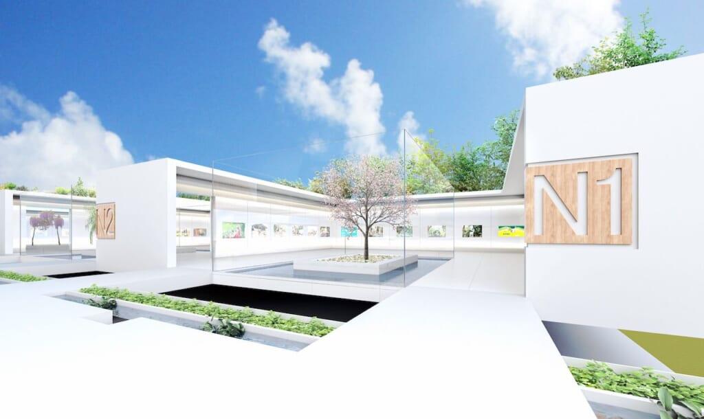 Japan Cultural Expo : modèle virtuel de galerie en plein air