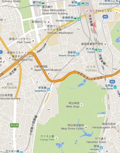 google maps shinjuku
